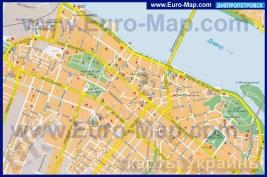 Карта центра Днепропетровска
