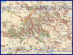 Карта дорог Донецка с окрестностями