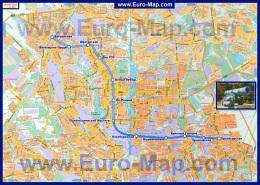 Подробная карта города Донецк