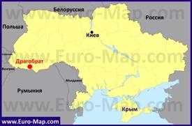 Драгобрат на карте Украины