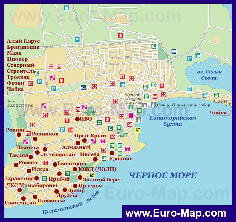 Карта схема евпатория