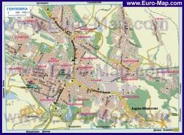 Автомобильная карта дорог Горловки