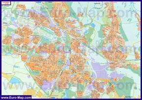 Подробная карта города Горловка