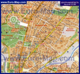 Карта центра Харькова