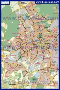 Карта Харькова по районам