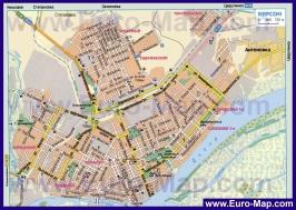 Автомобильная карта дорог Херсона