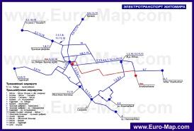 Схема маршрутов городского транспорта Житомира