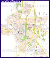 Подробная карта города Каменец-Подольский