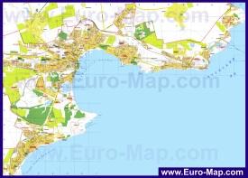 Подробная карта города Керчь