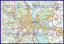 Карта Киева с окрестностями