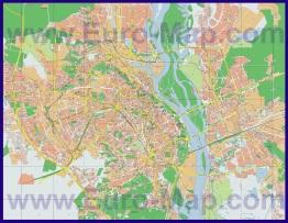 Подробная карта города Киев с домами