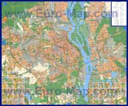 Подробная карта районов и улиц Киева