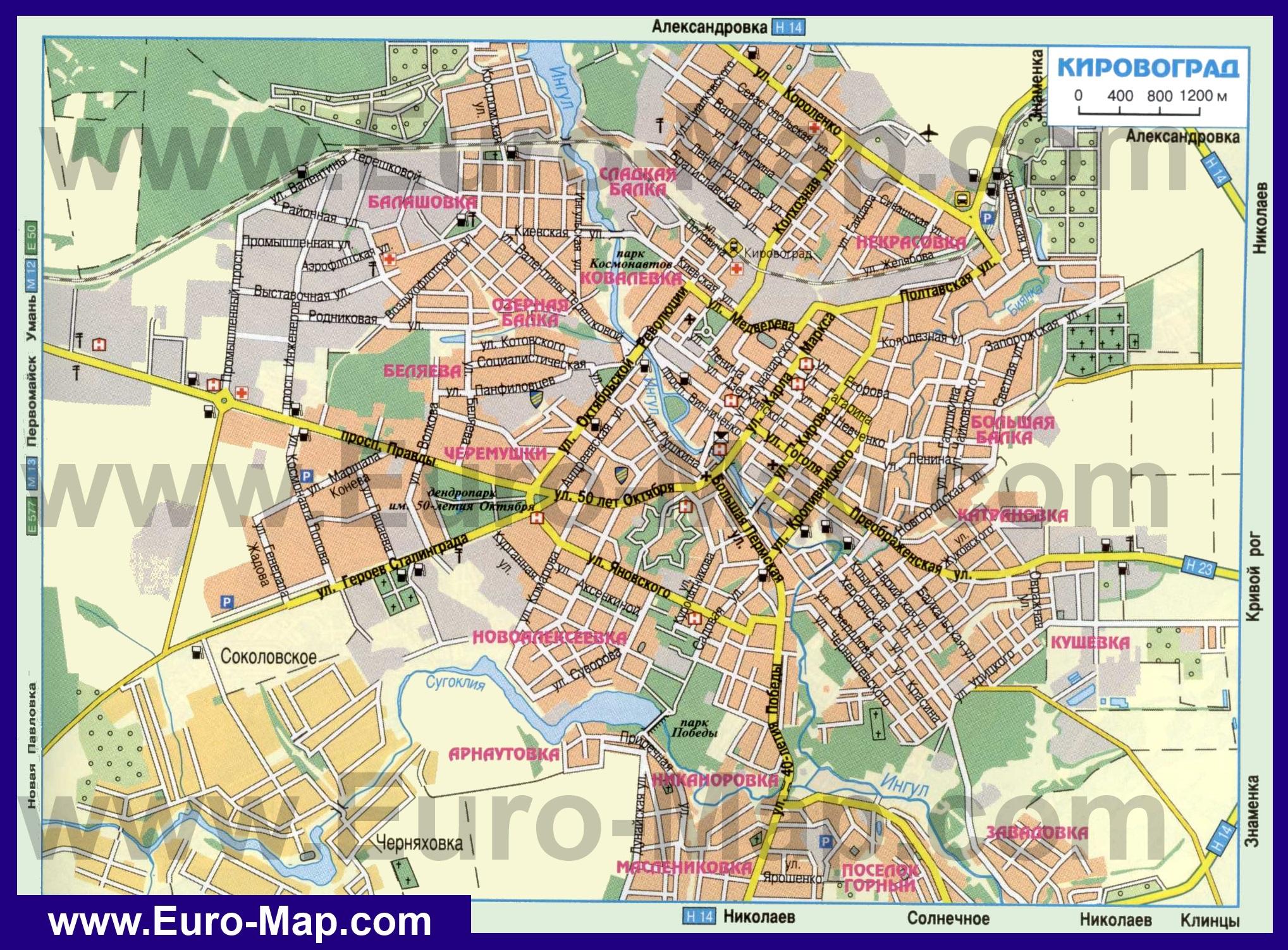 Карта Города Клинцы С Улицами