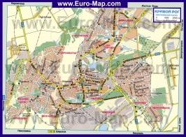 Автомобильная карта центра Кривого Рога