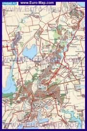 Карта Кривого Рога с окрестностями