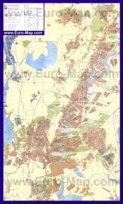 Подробная карта города Кривой Рог с районами