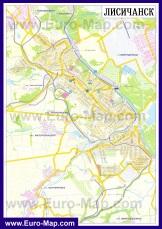 Карта дорог Лисичанска
