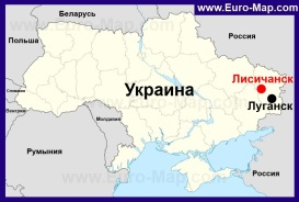 Лисичанск на карте Украины