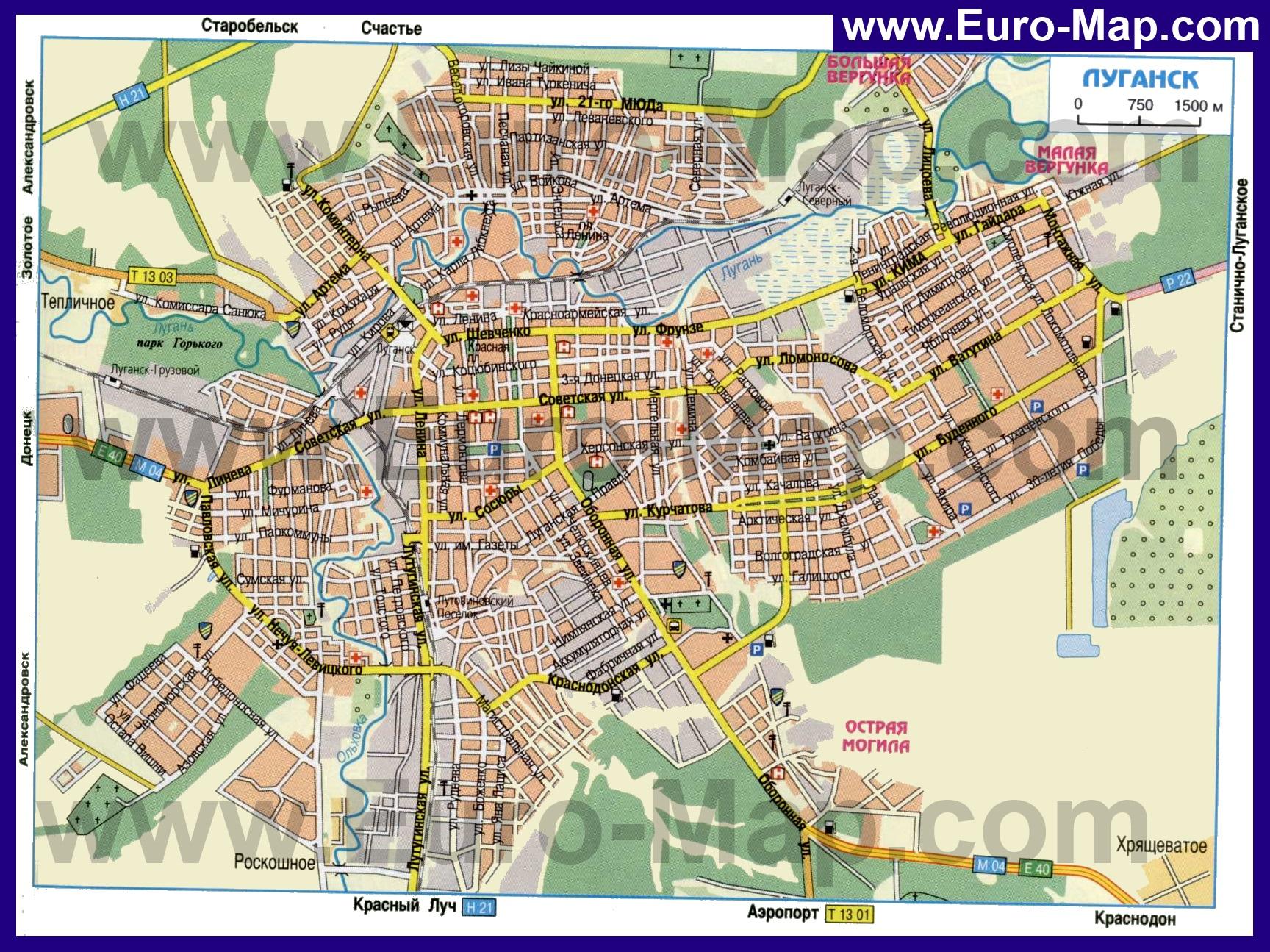 Карта города луганска скачать
