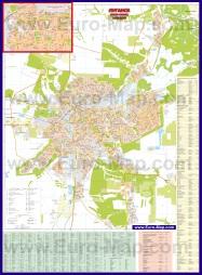 Подробная карта города Луганск