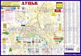 Подробная карта города Луцк