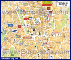 Карта центра Львова