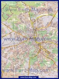 Карта Львова с улицами и домами