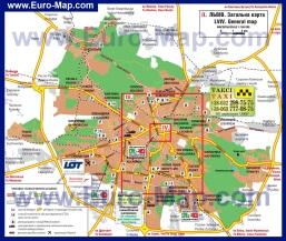 Карта районов Львова