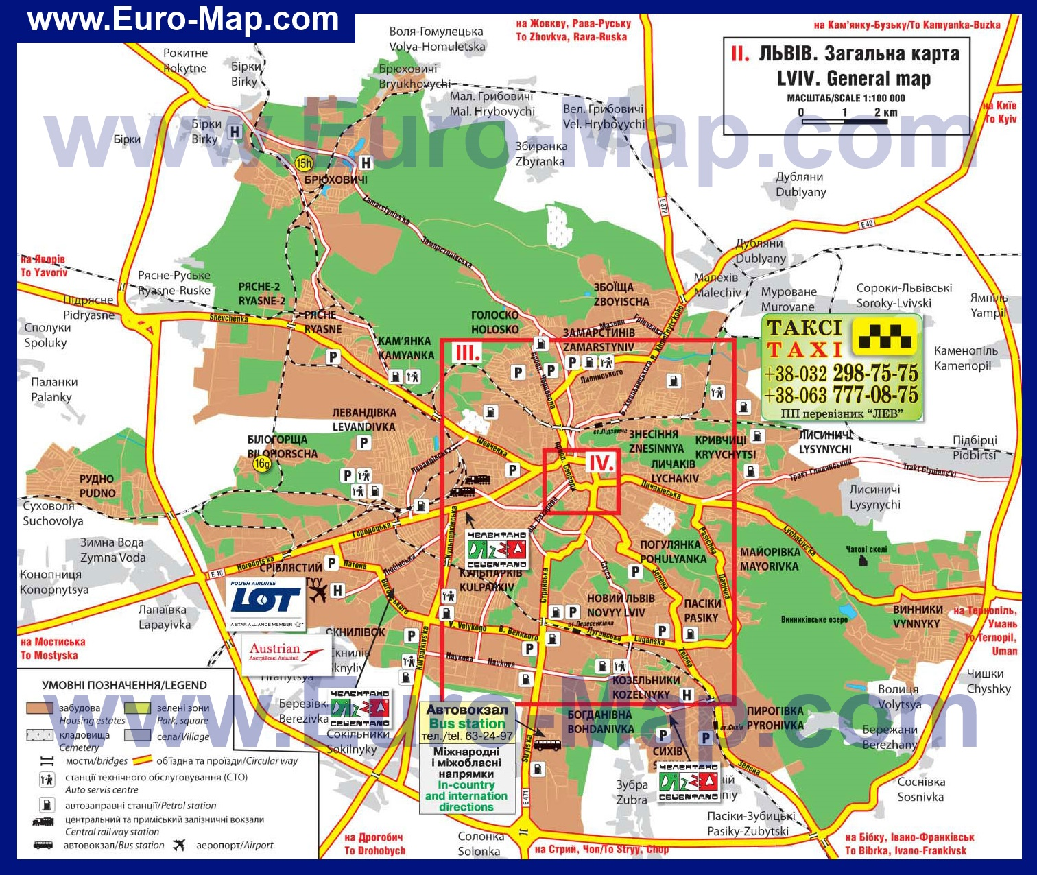 Топографическая Карта Львова.Rar
