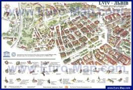 Туристическая карта Львова с достопримечательностями