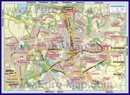 Карта дорог Макеевки с районами