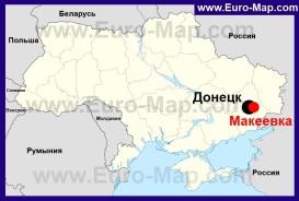 Макеевка на карте Украины