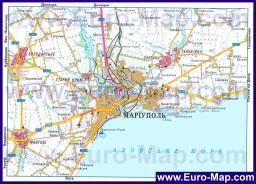 Карта дорог Мариуполя с окрестностями