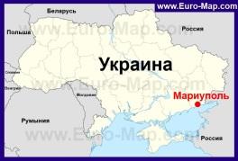 Мариуполь на карте Украины