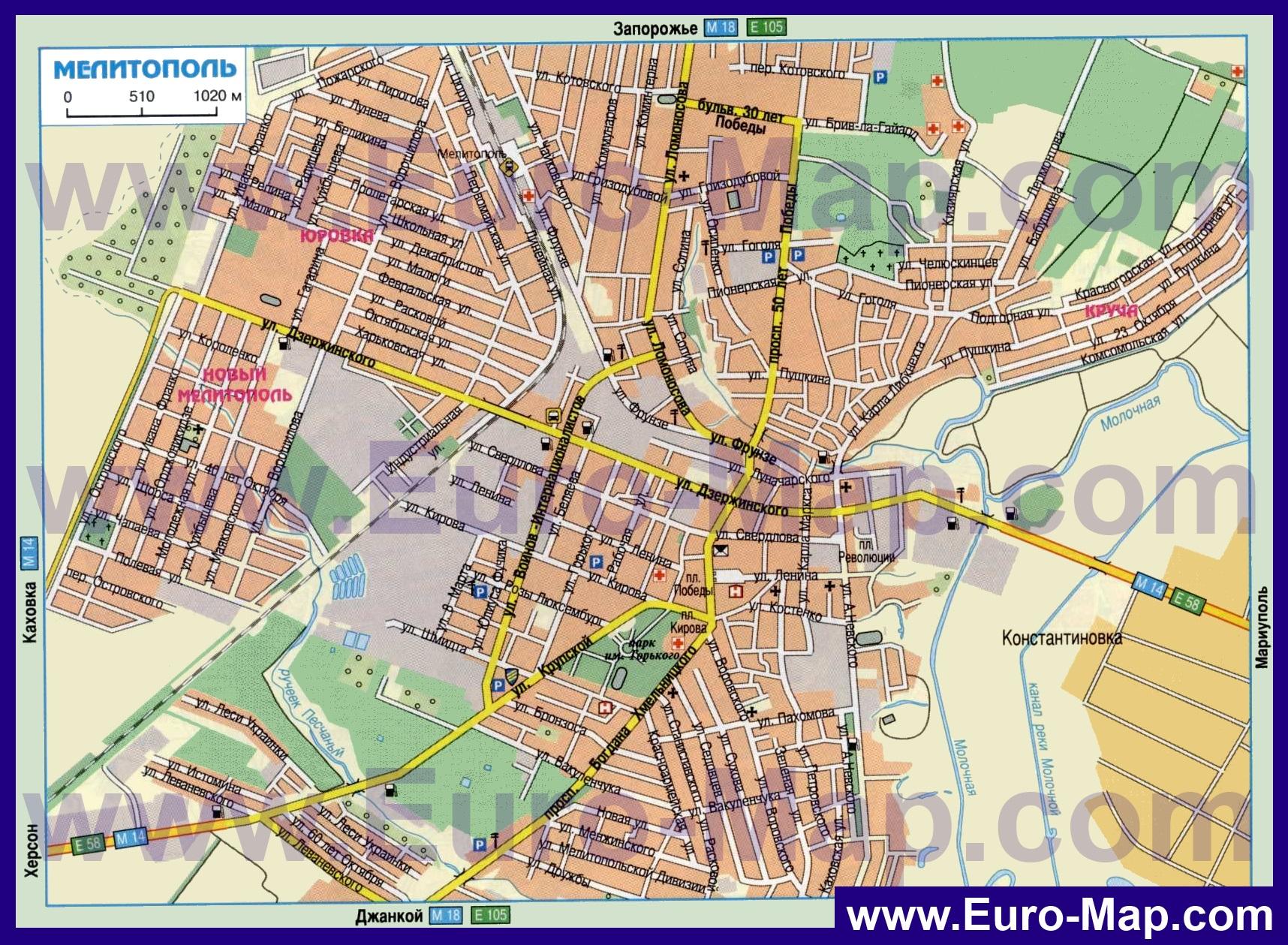 Спутниковая Карта Мелитополя С Улицами И Домами
