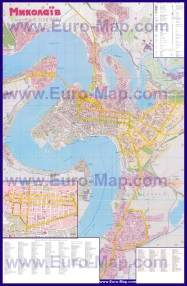 Подробная карта города Николаев