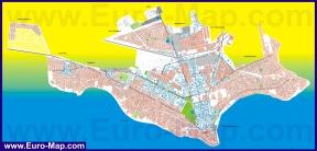 Подробная карта города Никополь