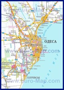 Автомобильная карта дорог Одессы