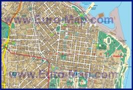 Карта центра города Одесса