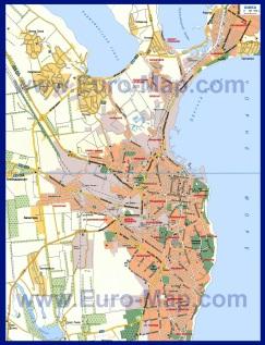 Карта Одессы по районам