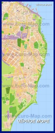 Подробная карта города Одесса с улицами
