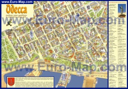 Туристическая карта Одессы с достопримечательностями
