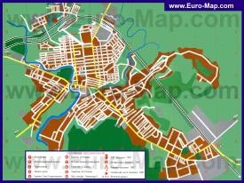 Подробная карта города Павлоград