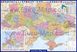 Подробная карта Украины по областям