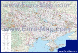 Подробная карта Украины с достопримечательностями