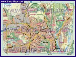 Карта дорог Полтавы