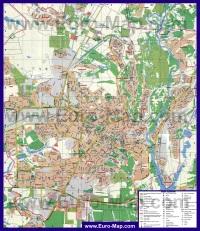 Подробная карта города Полтава
