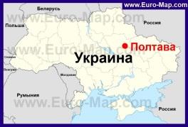 Полтава на карте Украины