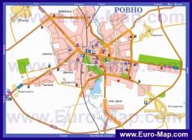 Автомобильная карта дорог Ровно