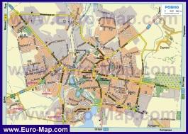 Карта города Ровно
